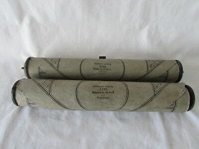Vintage Pianoforte Rolled Music Sheets  x 2 Chopin A Minor & MOSZKOWSKI in F.