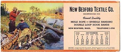 1942 New Bedford Textile Blotter: New Bedford Mass.