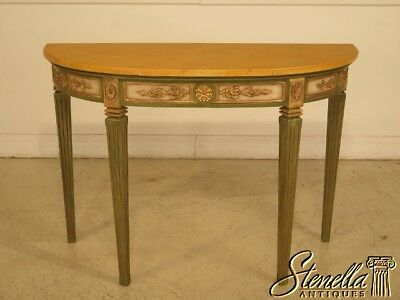 29632EC: French Louis XVI Style Paint Decorated Console Table