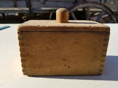 Antique 1800's Wooden Butter Mold / Press ~ Old Vintage Farm Kitchen Primitive