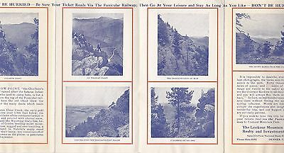 Brochure Of The Famous Funicular Railway To Lookout Mountain Park