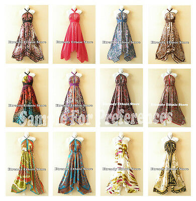 Clearance Wholesale Lot - 10pcs Versatile Silk Multi Wear Scarf Maxi Dresses
