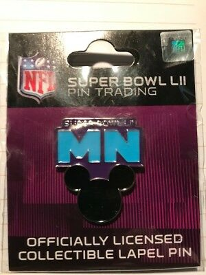 NFL Super Bowl 52 LII 2018 Lapel trading pin Disney Mickey Mouse Ears