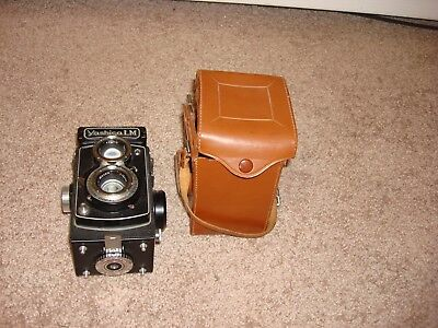 vintage yashica lm  copal mx camera with case
