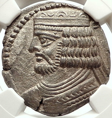 VARDANES II 55AD PARTHIA Tetradrachm Authentic Ancient Greek Coin NGC AU i67616