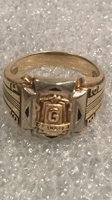 Antique Vintage Art Deco 1933 Gallup New Mexico 10k Gold Class Ring