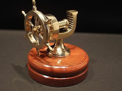 Antique Vintage Style Solid Brass Nautical Ships Wheel Nut Cracker