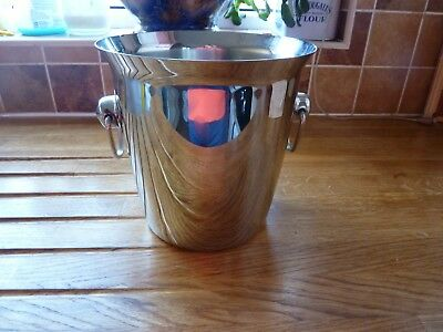 Stainless Steel Ice Bucket Champagne Wine Cooler with Handles