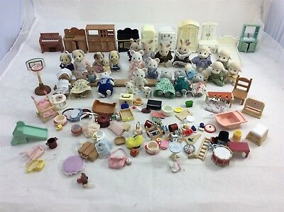 Lot Sylvanian Families Doll Furniture Accessories Play Worn Bundle