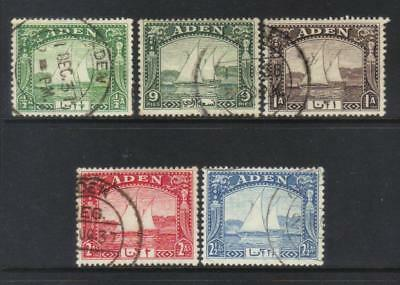 Aden 1937 Msca Sg1-5 Used Cat £13+