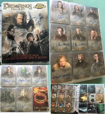 Lord of The Rings LOTR TOPPS TRILOGY CHROME autograph signed Card set LAST ONE !