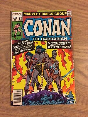Conan the Barbarian (Marvel) #88 1978 Maybe FN