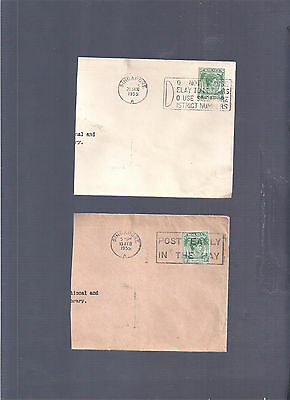 Brit Colonies Malaya Singapore 1955 2 Part Covers W Adverts Postmarks