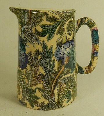 Green/Blue Floral Flat Back 1/2 China Jug
