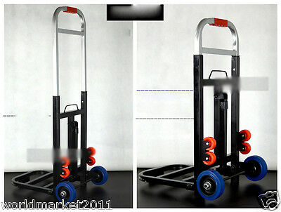 New Convenient Simple Stable Black Collapsible Shopping Luggage Trolleys B