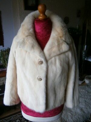Exquisite vtg PALOMINO real mink fur jacket, soft silky pelts, excellent cond!