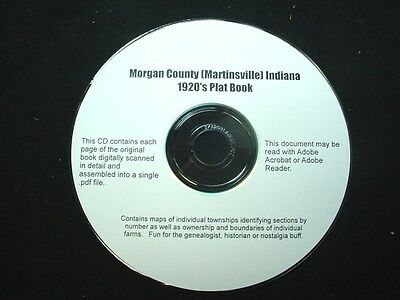CD ~ 1930's Morgan County Indiana Plat Map Book