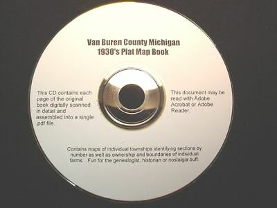 "CD ~ 1930""s Van Buren County Michigan Plat Map Atlas"