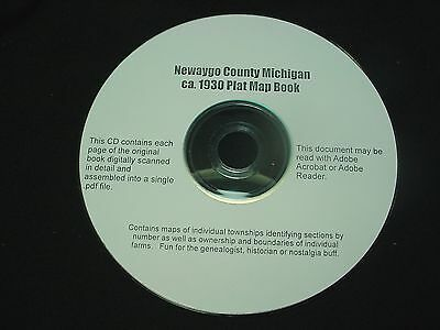 CD ~ 1930's Newaygo County Michigan Plat Map Atlas