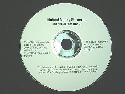 CD ~ ca.1960 McLeod County Minnesota Plat Map Book