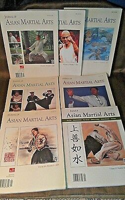 Lot of 7 Back Issues JOURNAL OF ASIAN MARTIAL ARTS 2000-2005 Complete Clean Lot