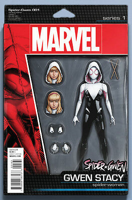 SPIDER-GWEN #1, ACTION FIGURE VARIANT, New, First print, Marvel Comics (2015)