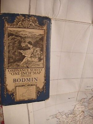 Cornwall,vintage Ordnance Map.1933 Bodmin,padstow,ellis Martin's Famous Cover