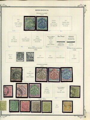 British Rhodesia / Somaliland On Scott Specialty Album Pages 1890 To 1964!