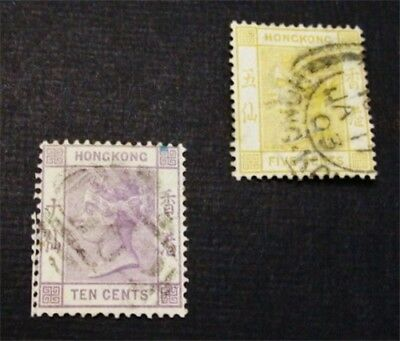 nystamps British Hong Kong Stamp # 41 42 Used $30