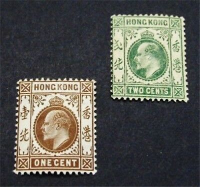 nystamps British Hong Kong Stamp # 86 87 Mint OG H $33