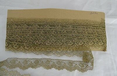 393 ins  Antique French Gold Metallic Lace Border
