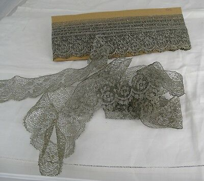 216  ins - Antique French Silver Metallic Lace Border