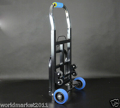New Convenient Portable Black Two Wheels Collapsible Shopping Luggage Trolleys C