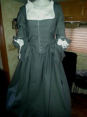 18th Century Historical Reproduction Polonaise Gown and Petticoat size 42Bust