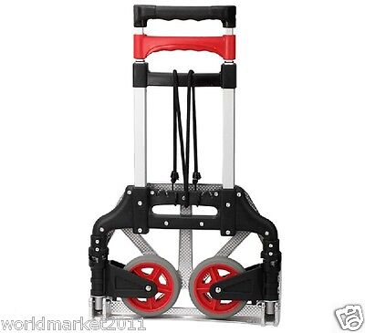 New Convenient Aluminium Alloy Two Wheels Collapsible Shopping Luggage Trolleys