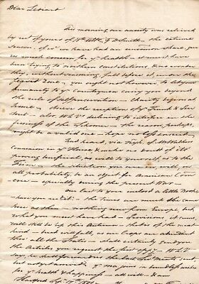 1801, Colonel Thomas Seymour, letter to son in Havana, Cuba, re: fever, business