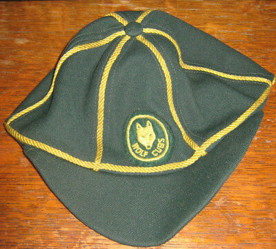 Scouts Canada Wolf Cubs Green and Yellow Baseball Cap Size Medium (?)