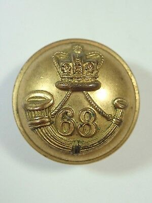 68th (Durham Light Infantry) Foot original Large Victorian Officers Button.