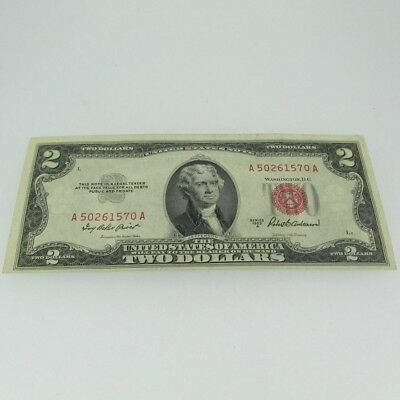 1953 A Red Seal United States Two Dollar Note 600674