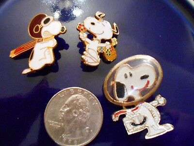 Estate Snoopy Brooch Pin Collection Lot Vintage Astronaut United Feat & Later