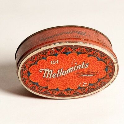 Vintage Mellomints Satin Finish 10 cents Tin Brandle & Smith Co Philly Candy