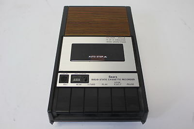 Vintage Sears Solid State Cassette Tape Recorder Model 934.21660800 (690)