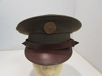 Pre WWII U.S. Army 1920's and 1930's enlisted dress visor cap with badge named.