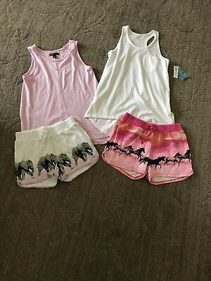 Gap Kids Girls Elephant And Horse Ombré Cotton Shorts Tanks Size 12 Perfect