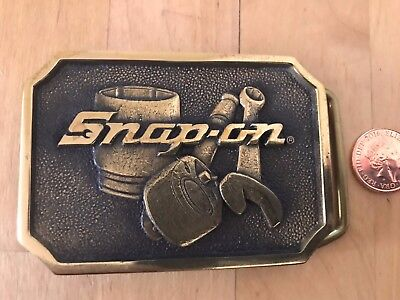 Snap On Tools Belt Buckle Solid Brass  Made in USA  BTS SPP 513
