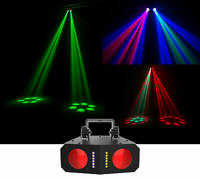 Chauvet DJ Duo Moon LED Moonflower/Strobe Effect Light, Sound-Activated Programs