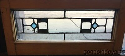 "Antique Stained Leaded Glass Transom Window 26 1/2"" by 12"""