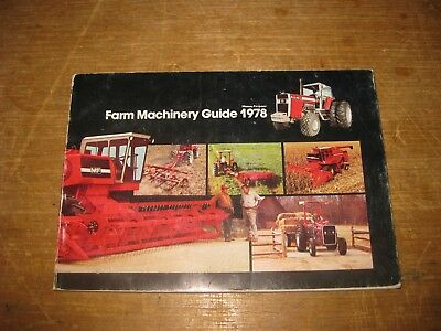 Vintage 1978 Massey Ferguson Farm Equipment Guide Sales Book