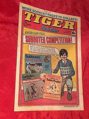 TIGER & SCORCHER-WEEKLY BRITISH COMIC-13th OCTOBER 1979-IAN BOTHAM & FOOTBALL