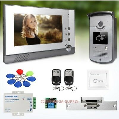 7inch Video Door Entry Phone Call System with IR Night Vision for Home Security